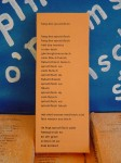 """Das Gedicht als Ausstellungsobjekt (""""Käpt´n O´poems Fischstäbchen"""")"""