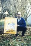 guido Hemmeler mit einem seiner Schilder
