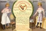 """Werbepostkarte für eine """"Flohfangmaschine"""" von 1908"""