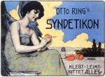 Jugendstil-Grafik von Ferdinand Schulz-Wettel für Syndetikon von 1899