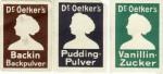 3 Reklamemarken für Dr. Oetker's