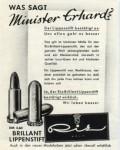 """Anzeige aus der Frauenzeitschrift """"Brigitte"""" (August 1957)"""