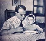 Werner Kohlmeyer mit Töchterlein