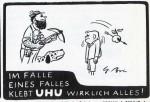 Anzeige für UHU Alleskleber von 1955
