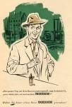 Underberg-Werbezettel von 1954