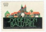 Reklamemarke für das Syndetikon Bauspiel (1911)