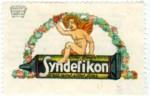 Amor auf der Klebetube... Reklamemarke für Syndetikon