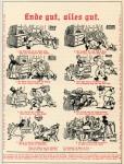 Einwickelbogen mit Reklametext in Bilderbogenform (ca. 1913)