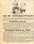 Hühneraugen-Notfall für Dr. Unblutig (1925, 1929 wiederholt)