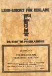 Kurt Friedländers Reklame-Kursus (1929)