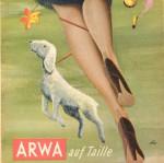 ARWA-Anzeige für Perlon-Nahtstrümpfe (1951)