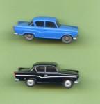 Borgward Arabella reloaded. 1964 (blau) und 2009 (schwarz)