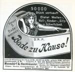 Bade zu Hause: Anzeige von 1905