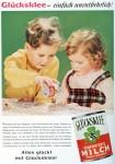 Anzeige für Glücksklee-Dosenmilch (1958)