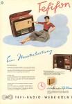 Anzeige für das Tefifon von 1955