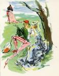 Gerd Grimm: Buchillustration zu Boccaccios Decamerone (Duo-Mini-Bücher 1953)