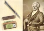 Englische Testimonial-Werbung für einen Patent-Bleistift von (Quelle: Stiftung Weimarer Klassik)