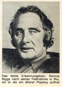Ronnie Biggs, letztes Erkennungsfoto.