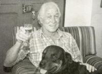 Ronnie Biggs mit Hund.